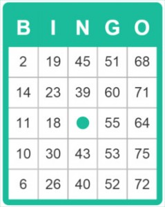 the design of a bingo card